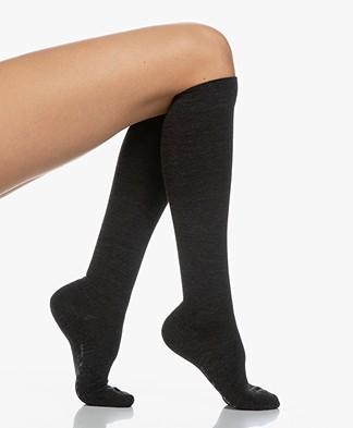 FALKE Softmerino Knee Socks - Anthracite Grey melee