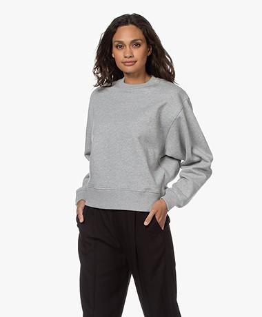 Les Coyotes de Paris Evin Shoulder Padded Sweater - Grey Melange