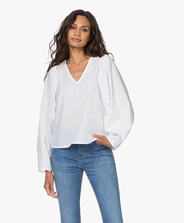 By Malene Birger Diosmara Organic Cotton Blouse - Pure White