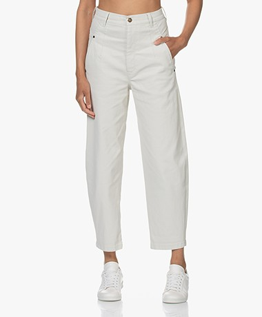 Drykorn Mind Relaxed-fit Cropped Jeans - Papyrus