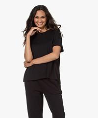 LaSalle Oversized Lyocell Jersey T-shirt - Zwart