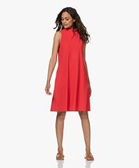 JapanTKY Amya Travel Jersey Sleeveless A-line Dress - Japanese Red