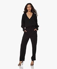 Drykorn Anu Viscose Twill Jumpsuit - Black
