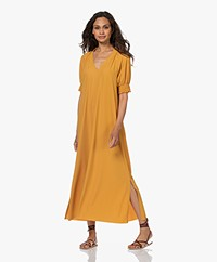 JapanTKY Arky Travel Jersey Maxi Dress - Ochre Yellow
