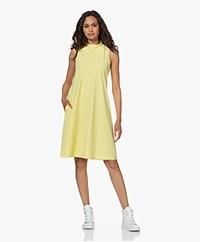 JapanTKY Amya Travel Jersey Sleeveless A-line Dress - Yellow