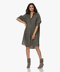 Closed Jasmine Organic Cotton Poplin Shirt Dress - Thyme