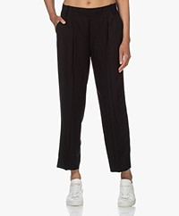 Vince Casual Pull On Viscose Pants - Black