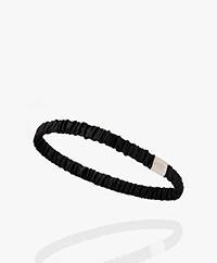 By Dariia Day Mulberry Silk Headbands - Midnight Black