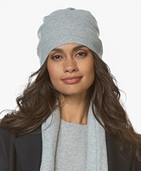 Repeat Luxury Cashmere Beanie - Light Grey Melange