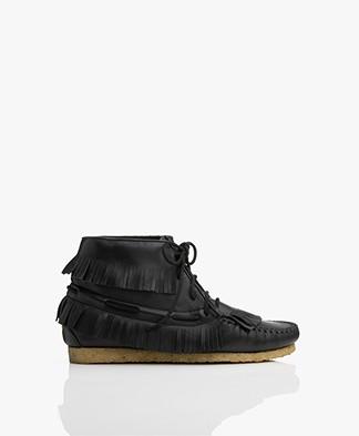 Jerome Dreyfuss Dakota Leather Moccasin Ankle Boots - Black