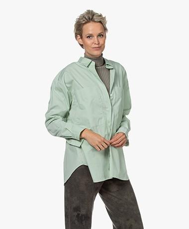 Closed Kara Organic Cotton Poplin Shirt - Sage Green