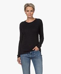 by-bar Basic Striped Long Sleeve - Midnight