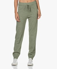 Repeat Fine Knit Wool-Cashmere Sweatpants - Sage