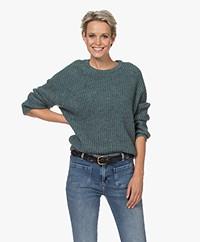 by-bar Milou Susi Fisherman's Rib Sweater - Deep Sage
