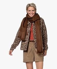 Alpaca Loca Handgemaakte Uni Sjaal in Alpaca - Chocolate Brown