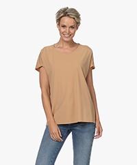 JapanTKY Yonas Light Travel Jersey T-shirt - Camel Soft