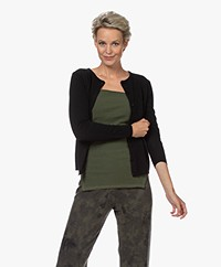 Resort Finest Lucca Cashmere Basic Vest - Zwart