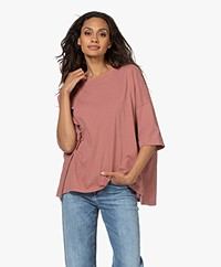 Bassike Slouch Side Step T Shirt - Canyon Clay