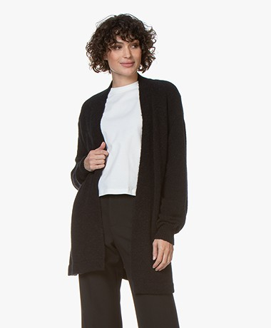 Closed Open Wool Blend Cardigan - Black