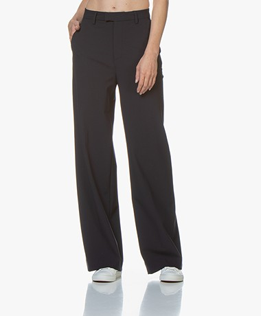 Closed Lyn Wide Leg Twill Pants - Dark Night