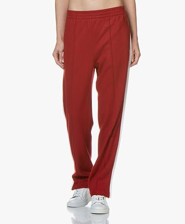Rag & Bone Rylie Wool Jersey Track Pants - Red