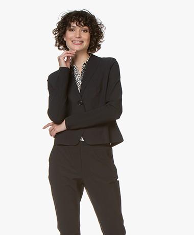 Josephine & Co Gieles Travel Jersey Blazer - Zwart