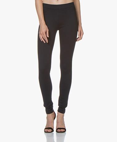 Repeat Viscose Blend Jersey Slim-fit Pants - Navy