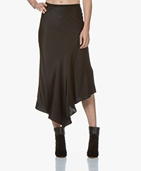 ANINE BING Bailey Silk Bias Cut Skirt - Black