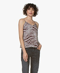 By Malene Birger Lacia Zebraprint Top - Cabernet