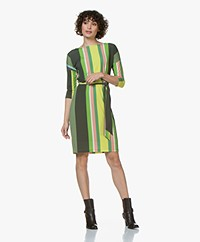 Kyra & Ko Novi Striped Jersey Dress - Army