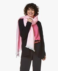 Alpaca Loca Handgemaakte Uni Sjaal in Alpaca - Lichtroze