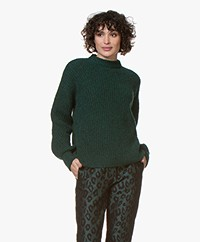 ANINE BING Jolie Merino Blend Rib Sweater - Forest Green