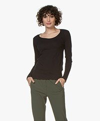 Majestic Filatures Carmen Cashmere Blend Long Sleeve - Marine