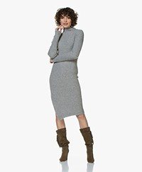By Malene Birger Meggie Asymmetrical Knitted Dress - Medium Grey