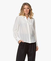 Repeat Silk Shirt Blouse - Cream
