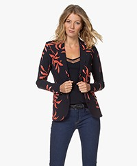 JapanTKY Danno Print Travel Jersey Blazer - Tropical Leaf