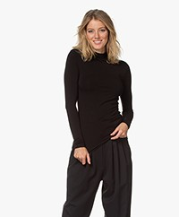 Kyra & Ko Susila Viscose Mock Neck Long Sleeve - Black