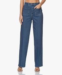 ba&sh Django Hoge Taille Jeans - Blauw