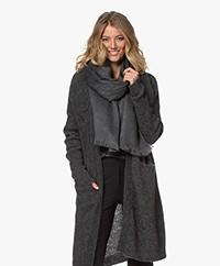 Alpaca Loca Handgemaakte Uni Sjaal in Alpaca - Grijs