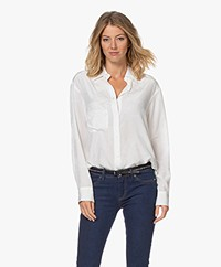 Zadig & Voltaire Tais Jacquard Zijden Blouse - Off-white