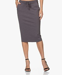Kyra & Ko Engla Ponte Jersey Pencil Skirt - Iron