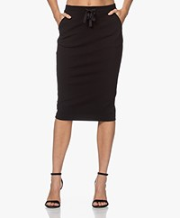 Kyra & Ko Engla Ponte Jersey Pencil Skirt - Black