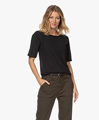 Kyra & Ko Olive Short Sleeve Crepe Blouse - Black