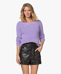 Kyra & Ko Pentas Feather Yarn Fluffy Sweater - Lavender