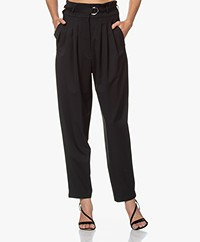 IRO Superb Paper Bag Pants - Black