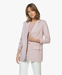 no man's land Rechte Jersey Blazer - Antique Rose