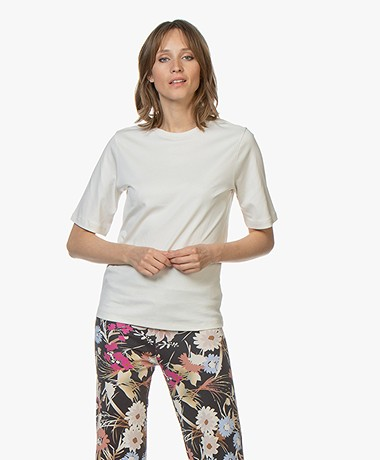 BOSS Teresponsible Pure Cotton T-shirt - Cream