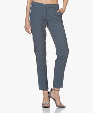 Zadig & Voltaire Prune Crepe Satin Pants - Greyish Blue