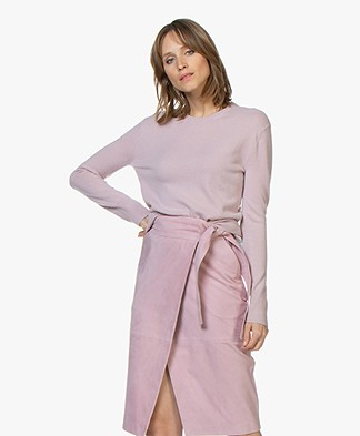 Filippa K Cashmere R-neck Sweater - Frosty Pink