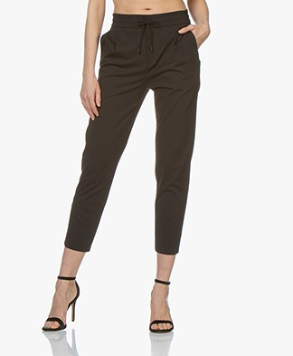 Drykorn Level Loose-fit Cropped Pants - Black
